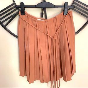 Diane Von Furstenberg Blush Wrap Pleated Skirt 2